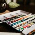 Aujourd'hui c'est dimanche, quoi de mieux qu'une après midi peinture ? 🎨   #painting #art #sundaymood #winter #nancy #palette #colorful #beauxarts #placestanislas